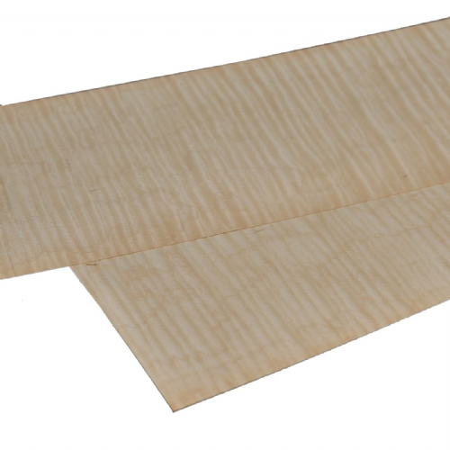 "Figured Maple. Set of 2 sheets: 22"" x 5.5"" ( 56 x 14 cm )"